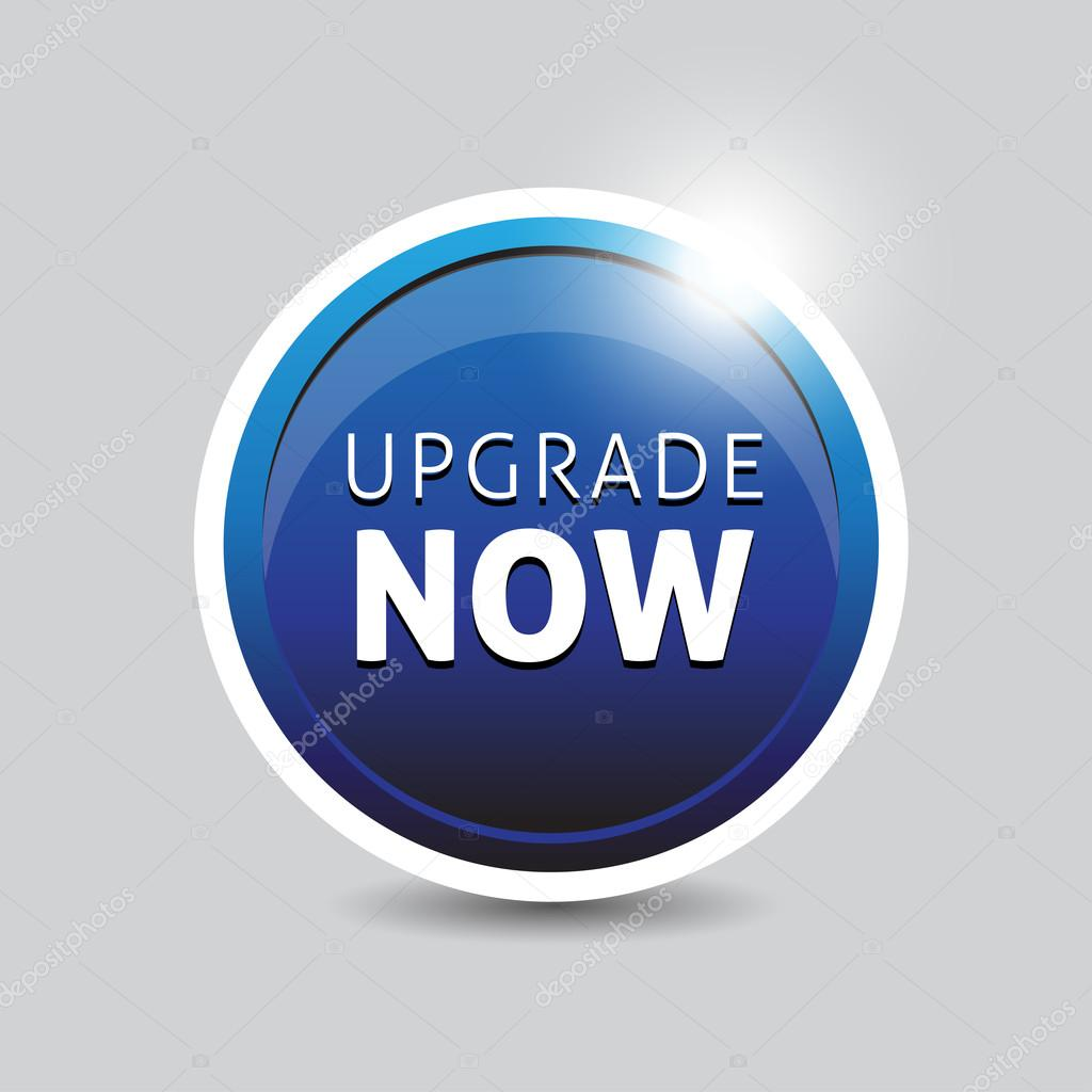 Upgrade now blue button vector — Stock Vector #12090824