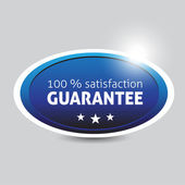 Satisfaction guarantee button — Vettoriale Stock