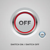 On Off switch button — Stock Vector