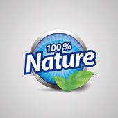 Botón de naturaleza azul — Vector de stock