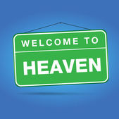 Welcome to heaven — Stock Vector