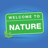Welcome to nature — Stock Vector