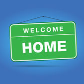 Welcome home — Stock Vector