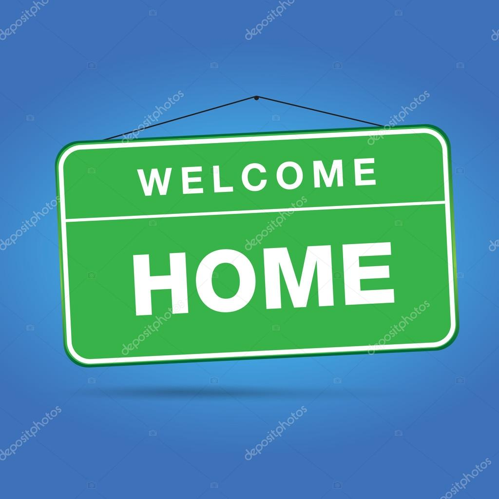 welcome home stock vector grounder 12479492