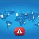Global warning — Stock Vector