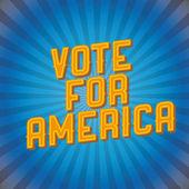 Votación para el cartel vintage América — Vector de stock