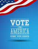 Amerika poster için oy — Stok Vektör
