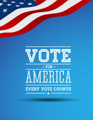 Vote for America poster — Vettoriale Stock
