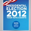 Stock Vector: Presidental election 2012