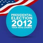 Presidental election 2012 — Stock Vector