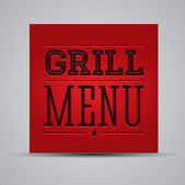 Grill menu template — Stock Vector