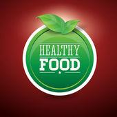 Healthy food green — Stock Vector