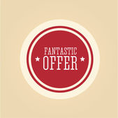 Fantastic offer red — Stock Vector