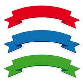 Three ribbon set — Stock Vector