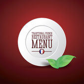 Traditional French restaurant menu — Stock Vector