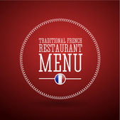 Traditional French restaurant menu — Stok Vektör