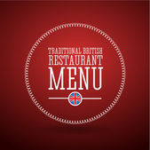 Traditional British restaurant menu — Vector de stock