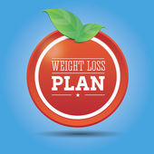 Weight loss plan diet — Stock Vector