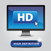 Hd - alta definición — Vector de stock