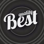 Meilleure affiche vintage de qualité — Vecteur