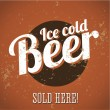 Stock Vector: Vintage metal sign - Ice cold beer - Sold here!
