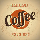 Placa de metal vintage - doce café acabado de fazer — Vetor de Stock
