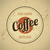 Vintage metal sign - Fresh brewed coffee — Stock Vector