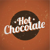 Vintage metal sign - Hot Chocolate — Stock Vector