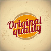 Original quality vintage sign — Stock Vector