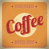 Vintage metal sign - Fresh brewed coffee — Stock Vector