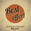Best offer vintage poster - Stock Vector