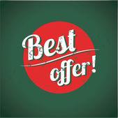 Best offer vintage poster — Stock Vector
