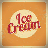 Vintage style ice cream — Stock Vector