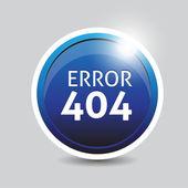 Error 404 button — Stock Vector