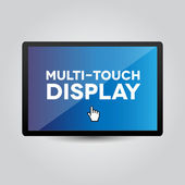 Multi touch display on tablet or smartphone — Stock Vector