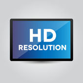 HD resolution on screen — Stock Vector