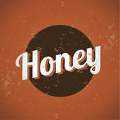 Honey vintage — Stock Vector