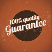 Garantia de satisfação vintage impressão — Vetorial Stock