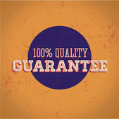 Satisfaction Guarantee vintage print — Vector de stock