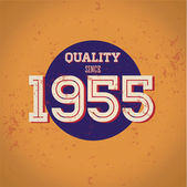 Kvalita od roku 1955 — Stock vektor