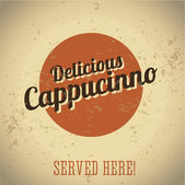 Cappucinno vintage sign — Stock Vector