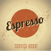 Espresso vintage sign — Stock Vector
