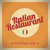 Vintage sign - Italian restaurant. Vector EPS 10 — Stock Vector