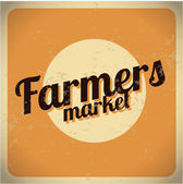 Farmers Market vintage metal sign. Eps 10. — Stock Vector