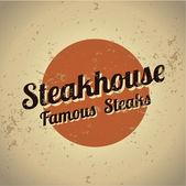 Steakhouse metal vintage sign — Stock Vector