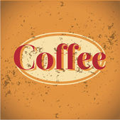 Vintage metal sign - Fresh Brewed Coffee - Vector — Stock Vector