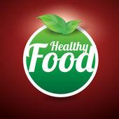 Healthy food button — Stock Vector