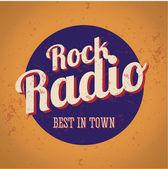 Vintage radio rock — Vettoriale Stock