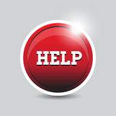 Help button red — Stock Vector