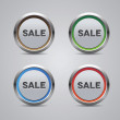 Sale button set — Stock Vector